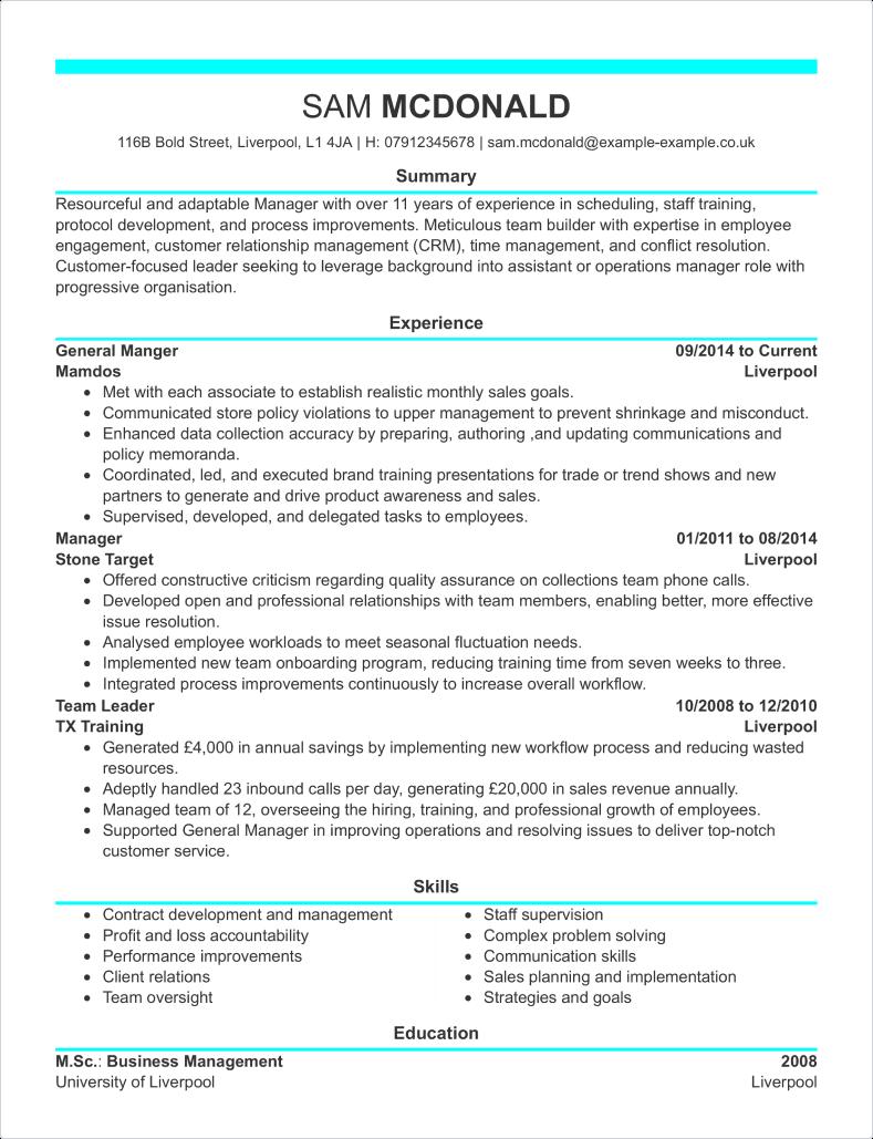 Creative CV template 2