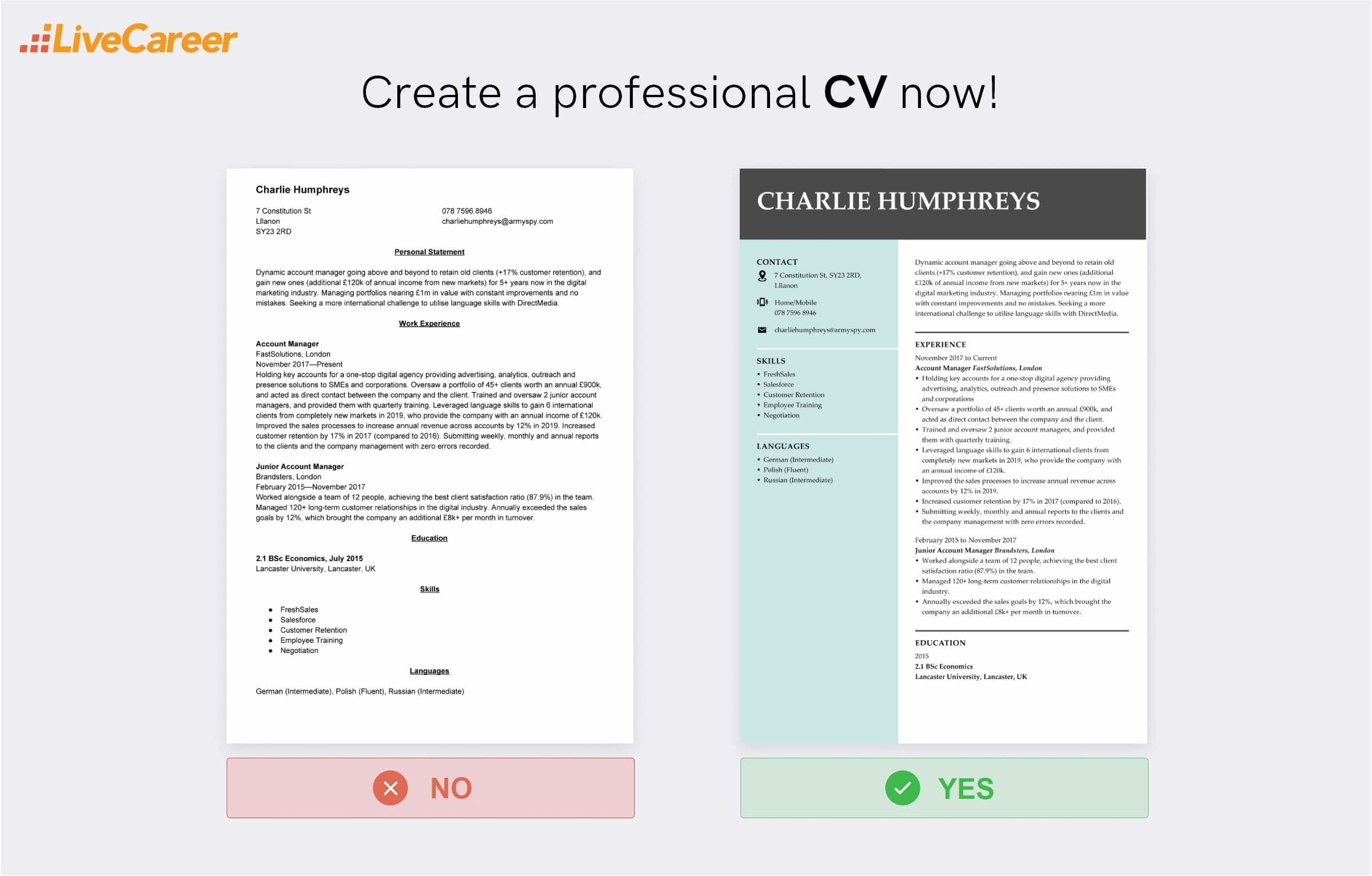 account manager CV
