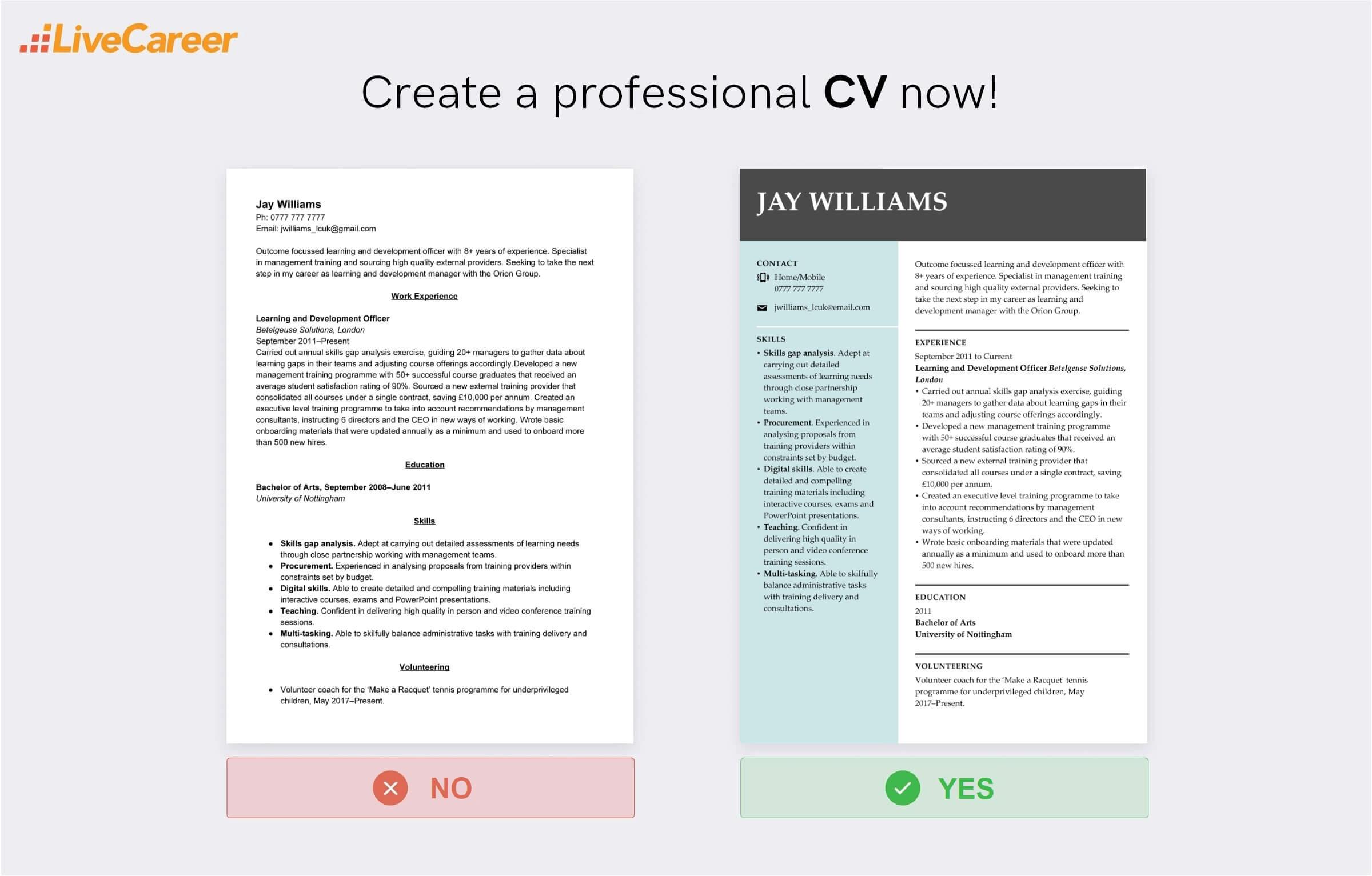best font for a CV