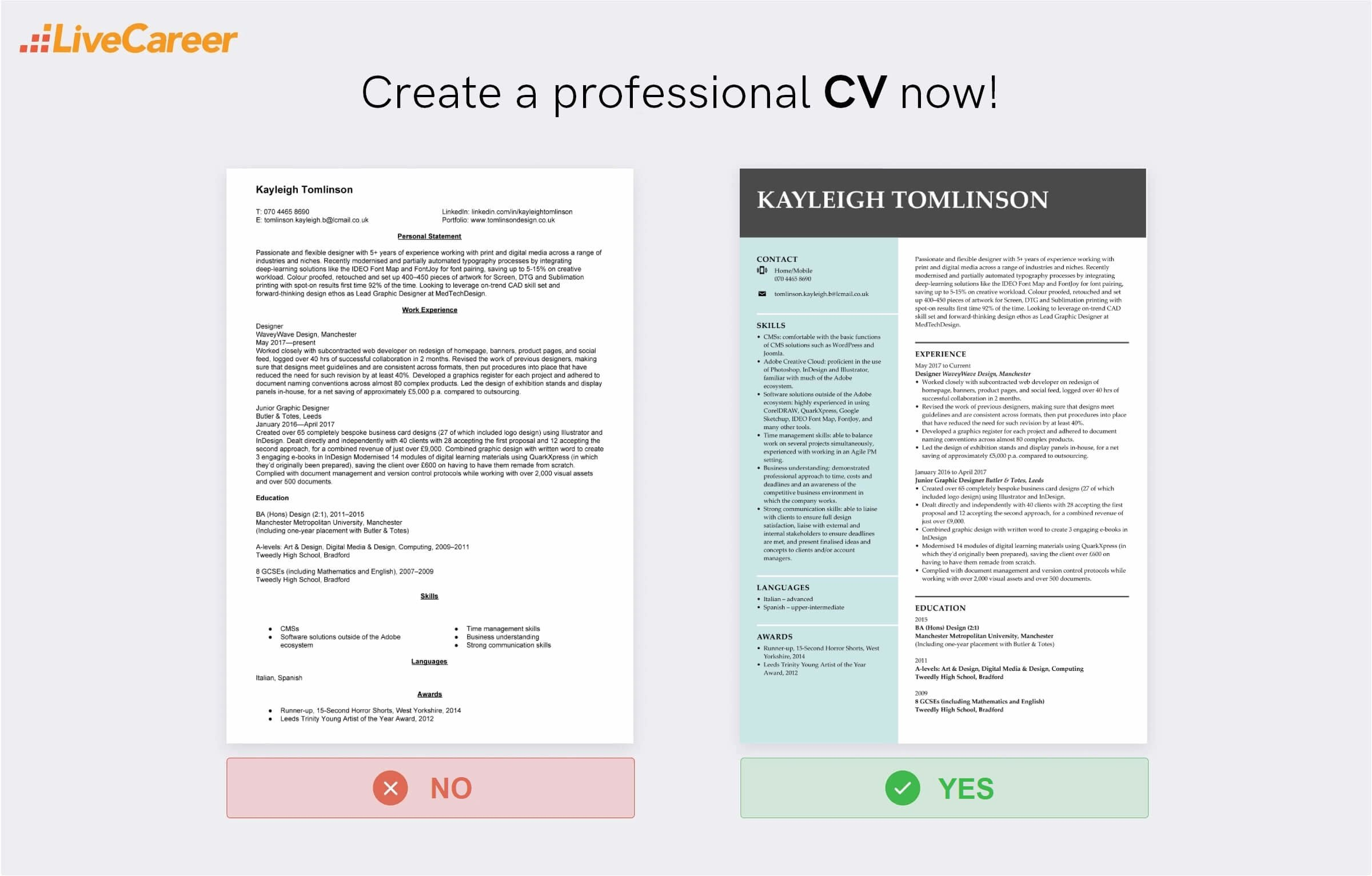 designer CV