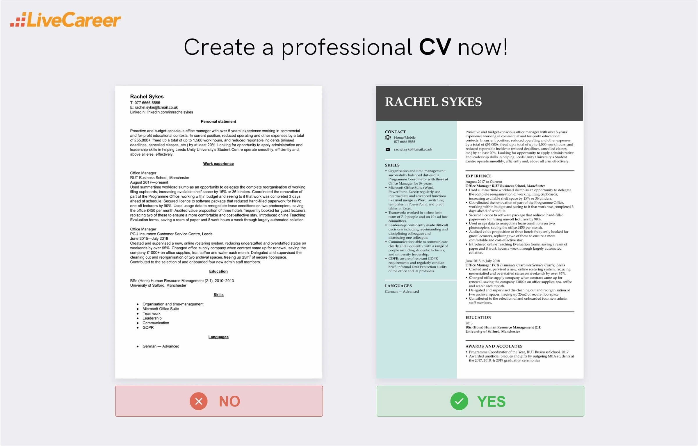 office manager CV
