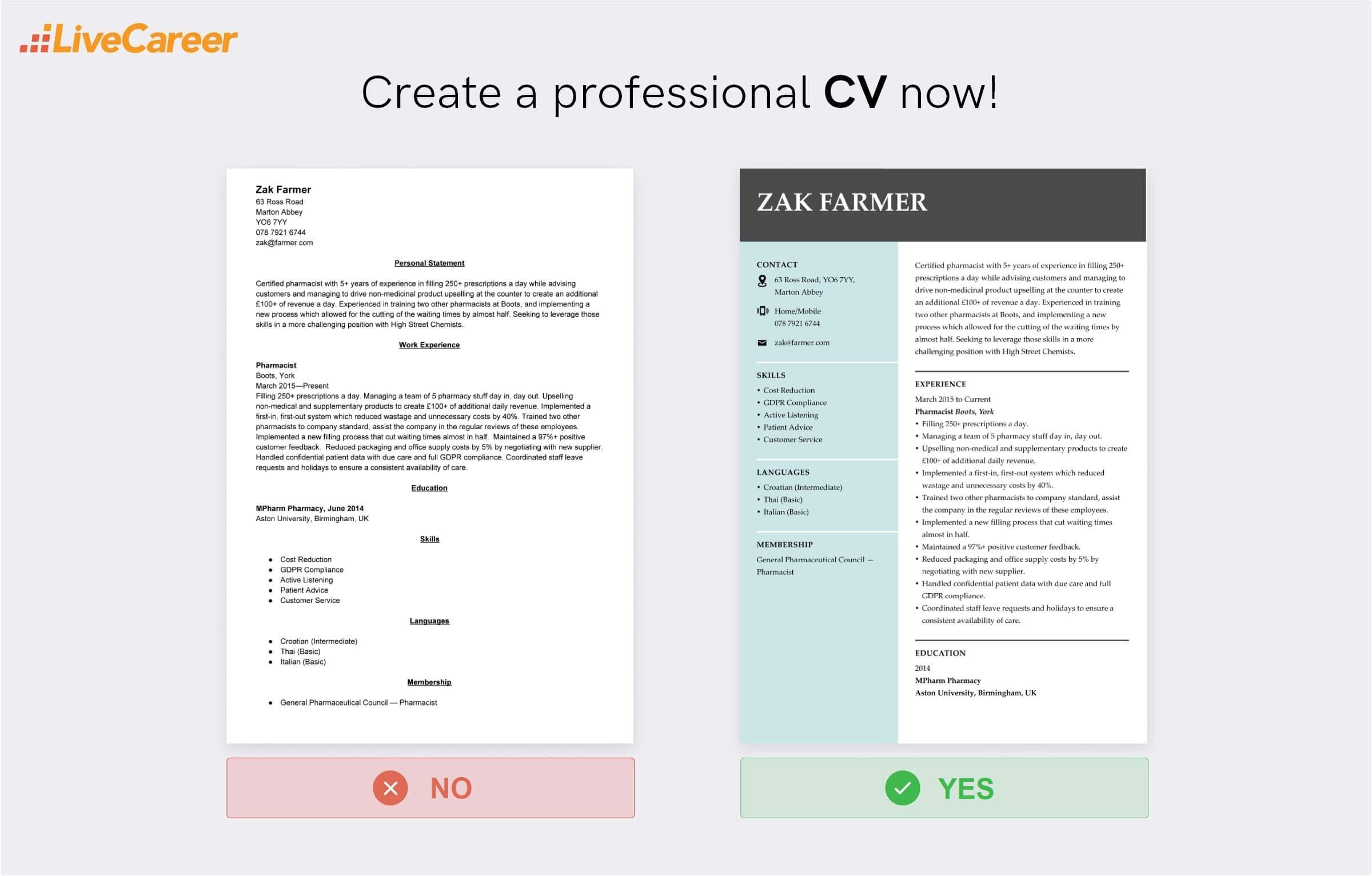 pharmacist CV