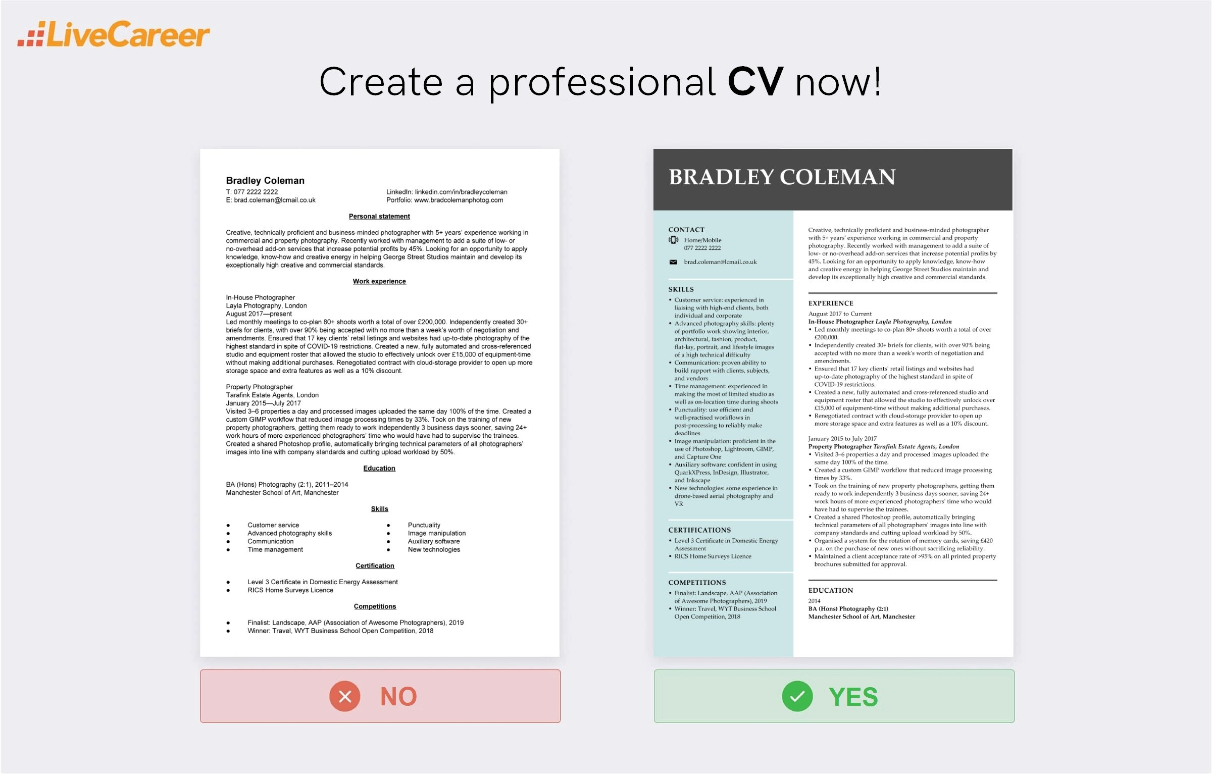 Photographer CV: Examples and How to Write (+Template)