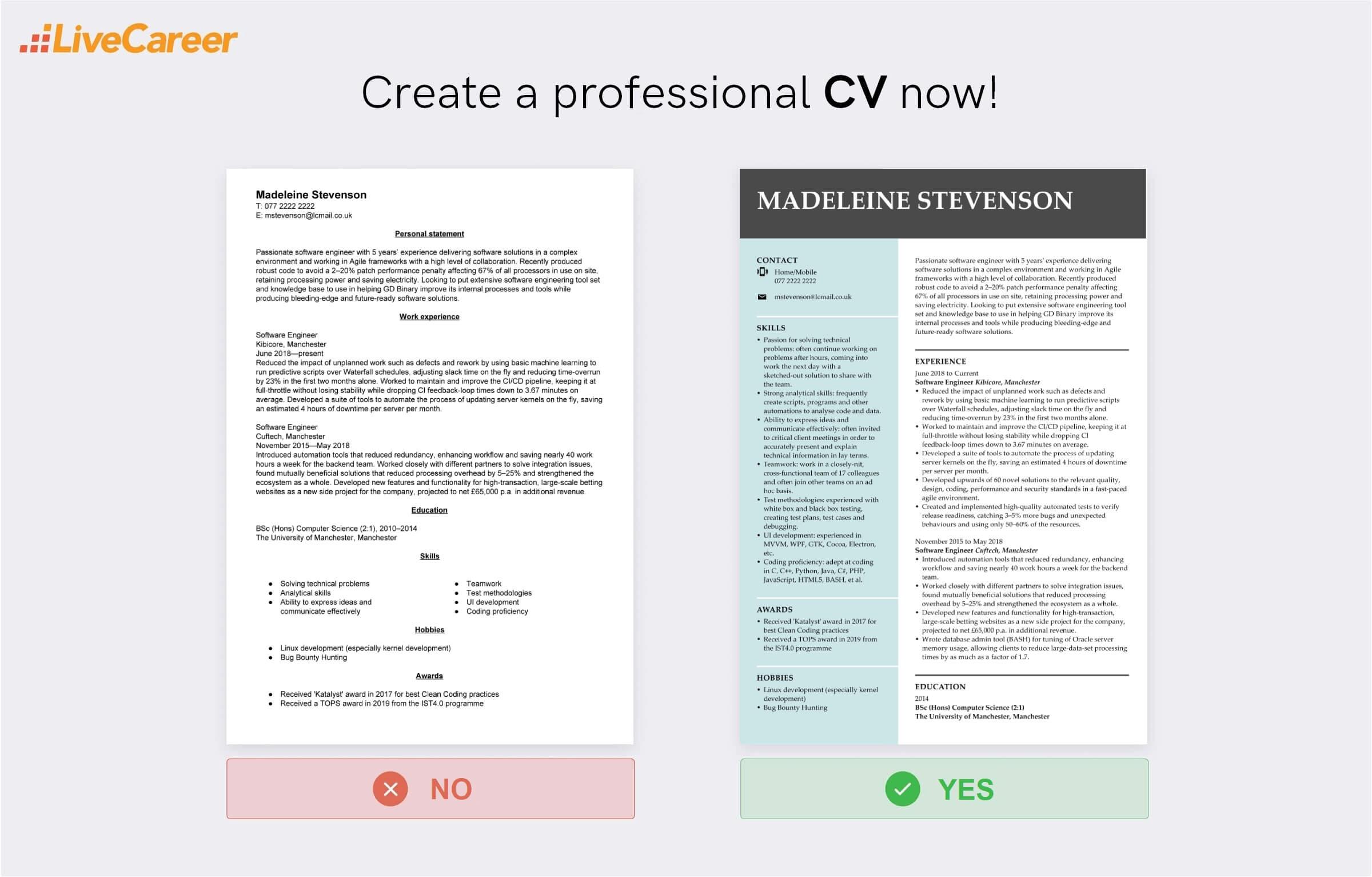 software engineer CV