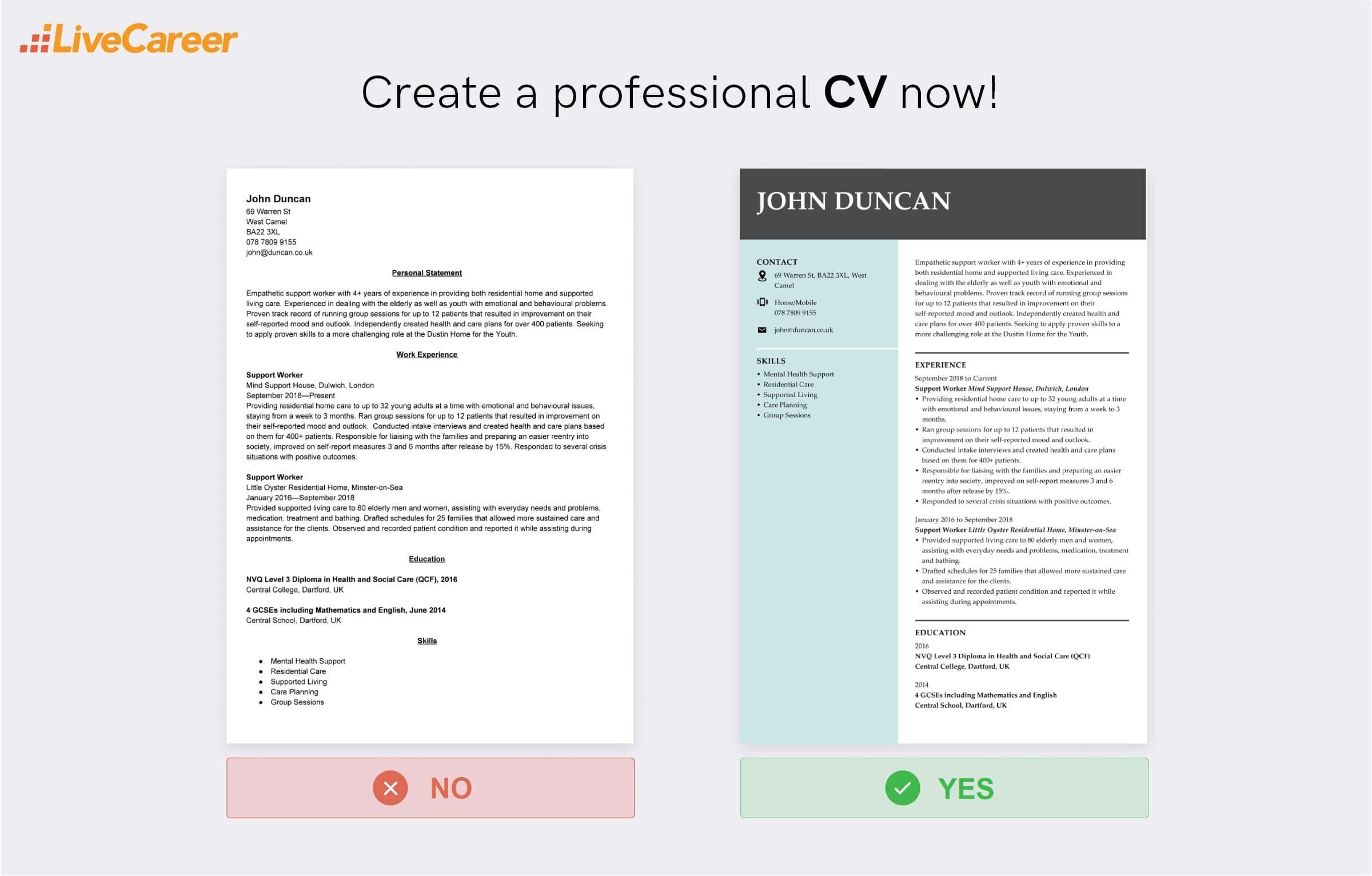 Support worker CV